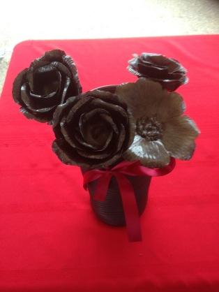 Blacksmith iron roses