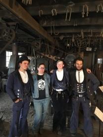 Visiting German Journeymen Blacksmiths from Germany in June 2018