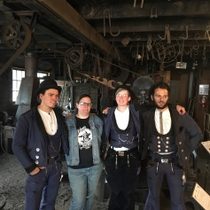 Visiting German Journeymen Blacksmiths from Germany in June 2018